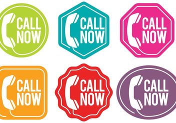 Call Us Now Vector Badges - Free vector #150629