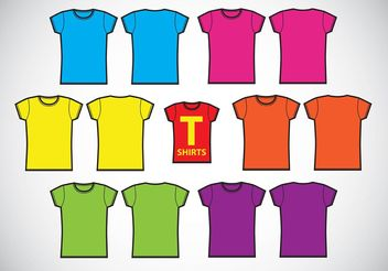 Girls T-Shirts Template Vectors - vector #150699 gratis
