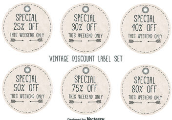 Vintage Style Discount Labels - Free vector #150709