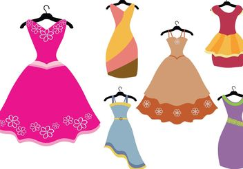 Colorful Fancy Dress Vectors - vector gratuit #150719