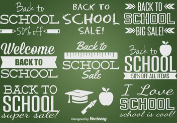 Back to School Label Set - vector gratuit #150769