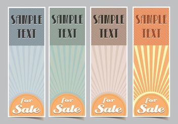 Vertical Retro Sunburst Vector Banners - бесплатный vector #150789