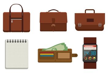 Briefcases and Accessory Vectors - vector gratuit #150809