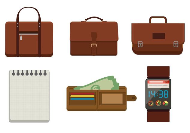 Briefcases and Accessory Vectors - Free vector #150809