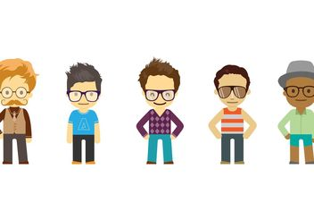 Cool Dude Vector Pack - Free vector #150839