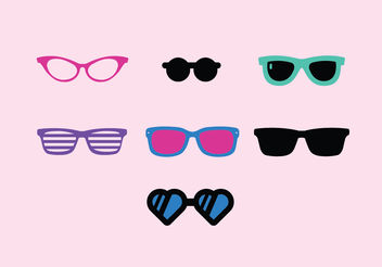 Vintage Sunglasses Vector Pack - бесплатный vector #150859