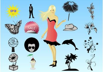 Summer Designs - Free vector #151029