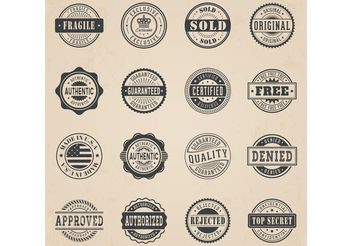 Free Commercial Stamp Vector Set - vector gratuit #151039