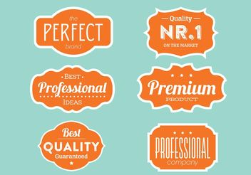Quality Label Collection - vector gratuit #151089