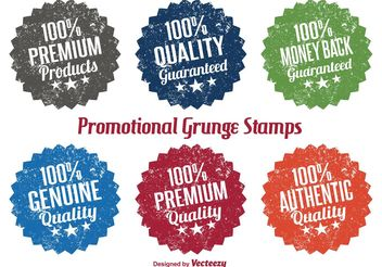 Promotional Grunge Stamp Vectors - Free vector #151109