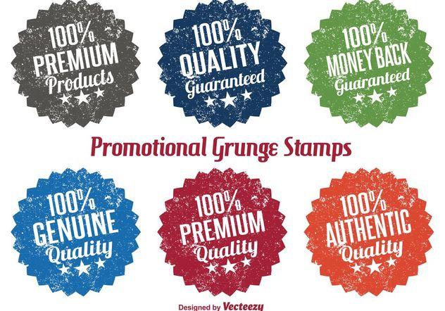 Promotional Grunge Stamp Vectors Free Vector Download 151109