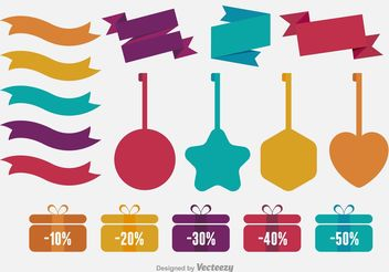 Price Tags & Label Vectors - Free vector #151119