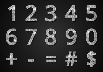 Free Diamond Digits And Symbols Vector - бесплатный vector #151139