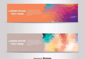 Abstract Banner Templates - vector gratuit #151179