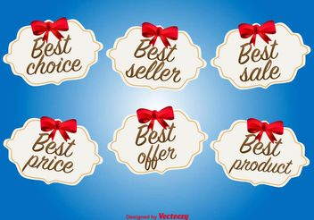 Best Offer and Deal Labels - vector gratuit #151189