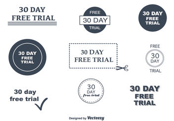 30 Day Free Trial Vectors - Free vector #151209