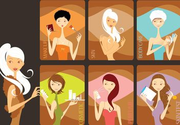Beauty Salon - Free vector #151289