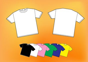 Colorful Shirts - бесплатный vector #151389
