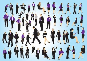 Business People Set - vector gratuit #151419