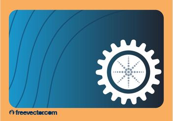 Business Card With Gear - vector gratuit #151429