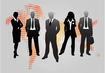 Business People Graphics - Free vector #151439