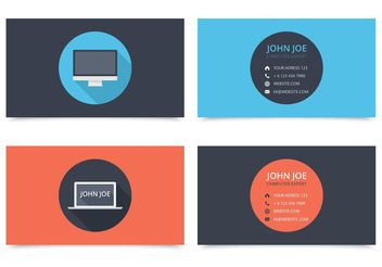 Free Computer Visiting Card Design Vector - Free vector #151459