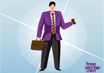Business Man Vector - Free vector #151479