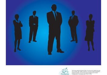 Office People Silhouettes - vector gratuit #151529