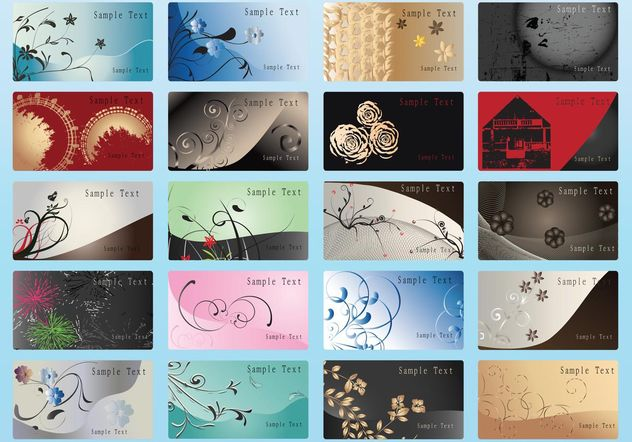 Vector Business Cards - Free vector #151559