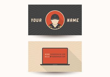 Free Retro Computer Visiting Card Design Vector - Free vector #151579