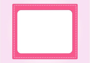 Stitched Card Vector - Free vector #151609