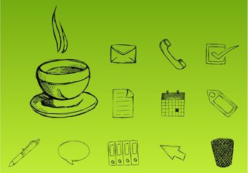 Office Icons - vector #151619 gratis