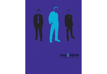 Business Men Silhouettes - vector gratuit #151639