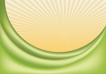 Green Wave Vector - Free vector #151689
