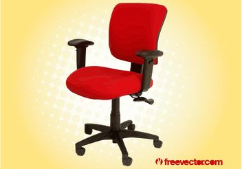 Red Office Chair - Kostenloses vector #151699