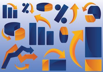 Business Graph Clip Art - бесплатный vector #151739