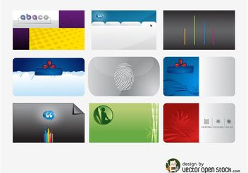 Business Cards Templates Pack - vector gratuit #151779