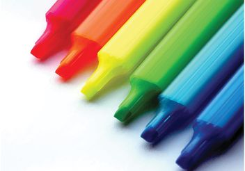 Colorful Markers - vector gratuit #151789
