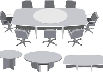 Round Table Meeting Vector - Free vector #151889
