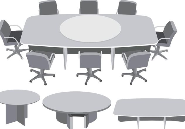 Round Table Meeting Vector - vector gratuit #151889