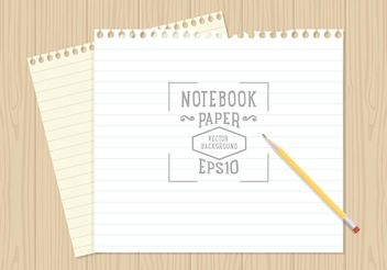 Free Notebook Paper Background Vector - Free vector #151909