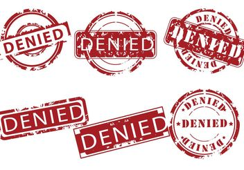 Denied Stamp Vectors - vector #151919 gratis