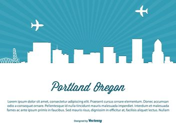 Portland Skyline Illustration - vector gratuit #151929