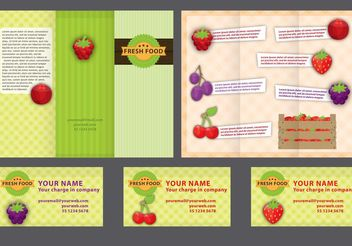 Farm Fold Brochure Vector - бесплатный vector #151939