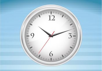 Clock Vector Illustration - vector gratuit #152019