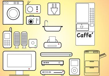 Home Appliances - vector gratuit #152049