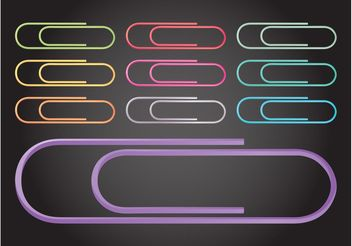Paperclips - Free vector #152069