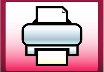 Printer Icon - vector #152099 gratis