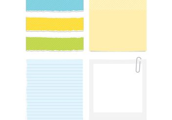 Colored Paper Vector - vector gratuit #152219