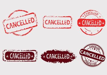 Cancelled Vector Badges - Free vector #152229
